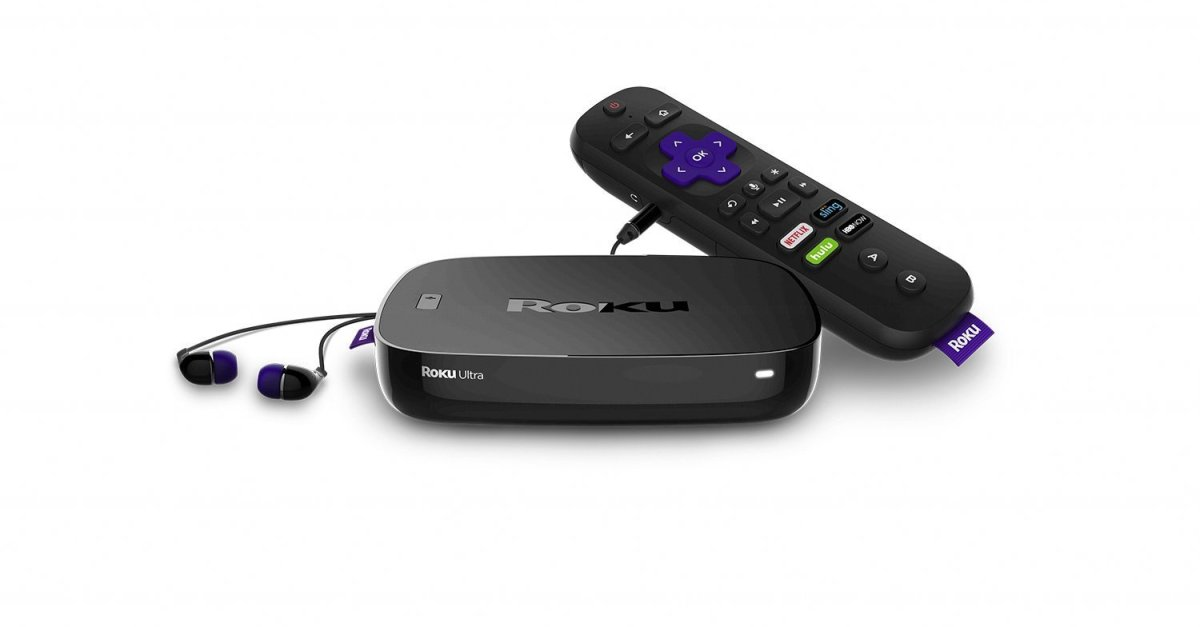 Roku Ultra 4K streaming player with JBL headphones + $5 Vudu credit for $48