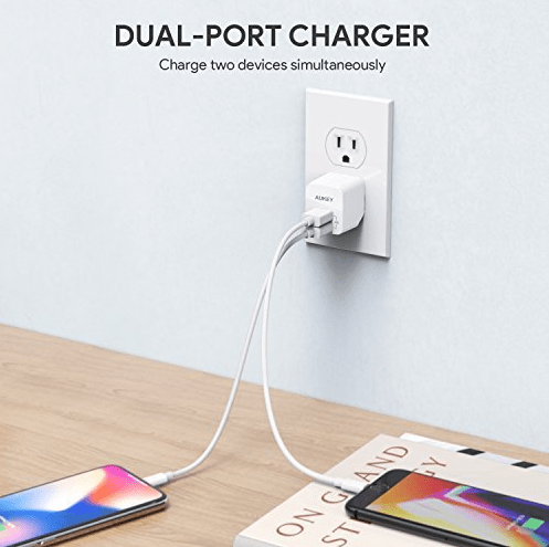 Aukey dual port charger only $6 with code on Amazon