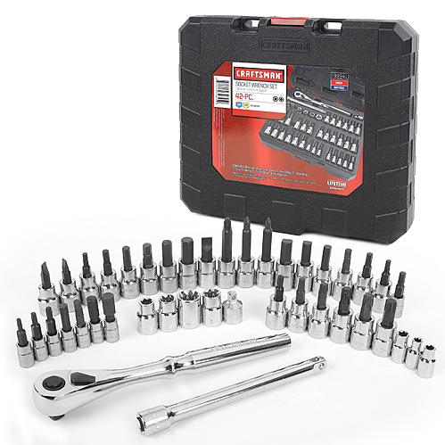 Craftsman 42-piece 1/4 and 3/8-inch drive bit and torx bit socket wrench set for $25
