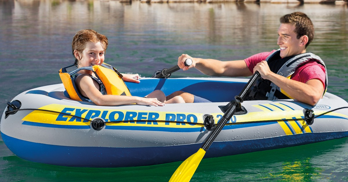 In select stores: Intex Inflatable Explorer Pro 200 two-person boat with oars & pump for $15