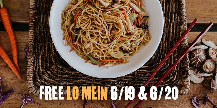 Ends today! Buy one, get one free Lo Mein at P. F. Chang's