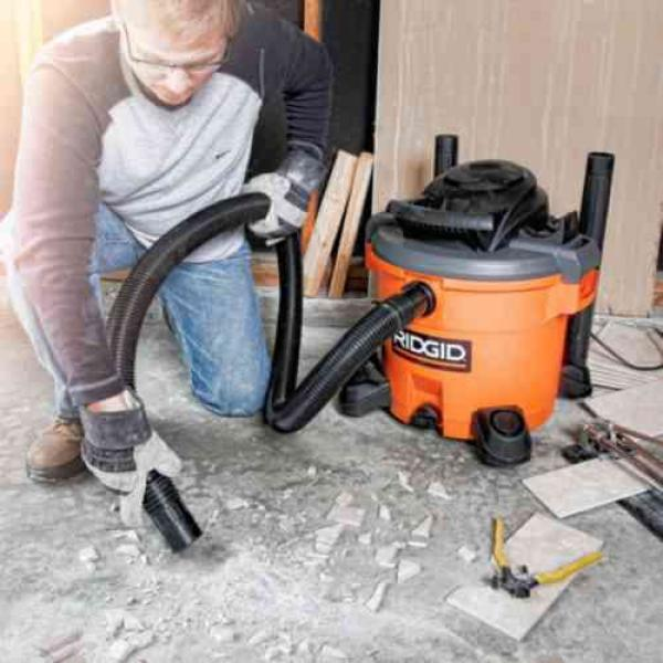 RIGID 12 gallon wet/dry vac with tumbler only $50 at The Home Depot