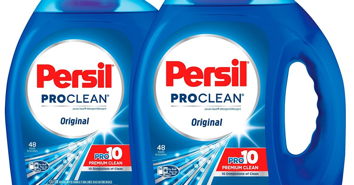 2-pack Persil liquid laundry detergent (96 loads) for $15