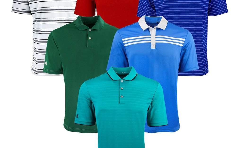 2-pack Adidas men's mystery polo shirts for $32, free shipping
