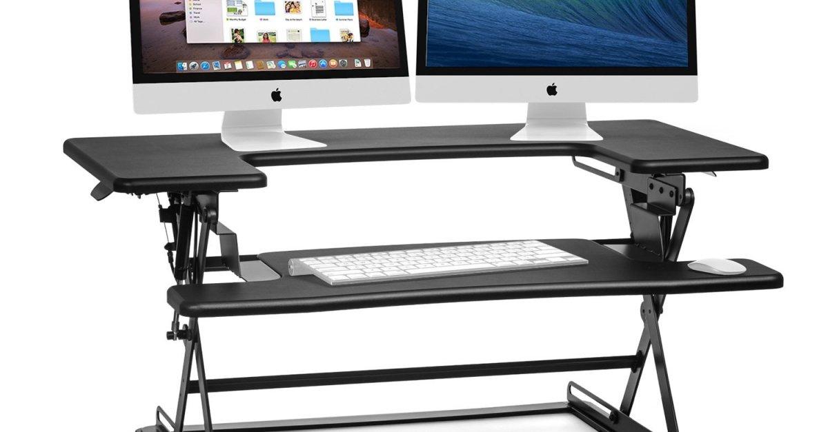 Today only: Halter height adjustable standing desk riser for $120
