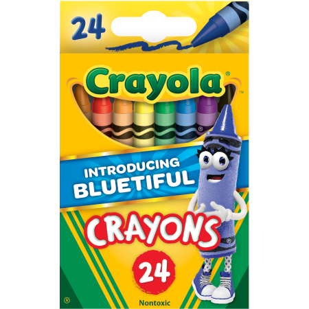 24-count Bluetiful Crayola classic crayons for $.50