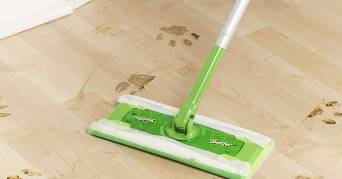Swiffer Sweeper cleaner dry and wet mop starter kit for $8