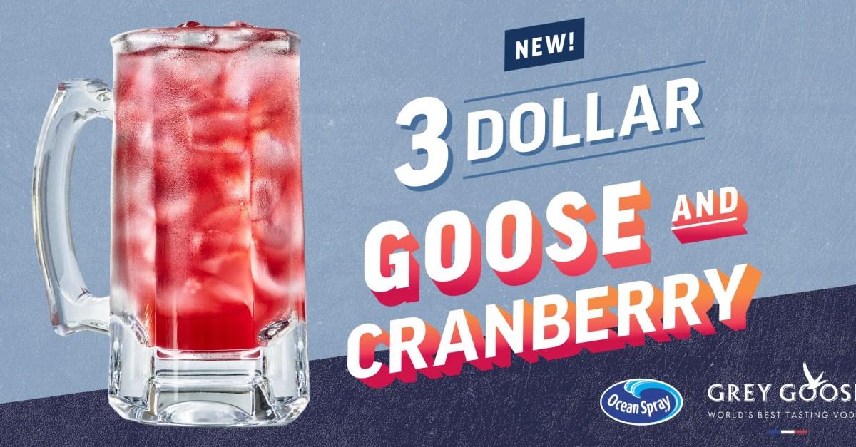 Applebee's: $3 Goose & Cranberry