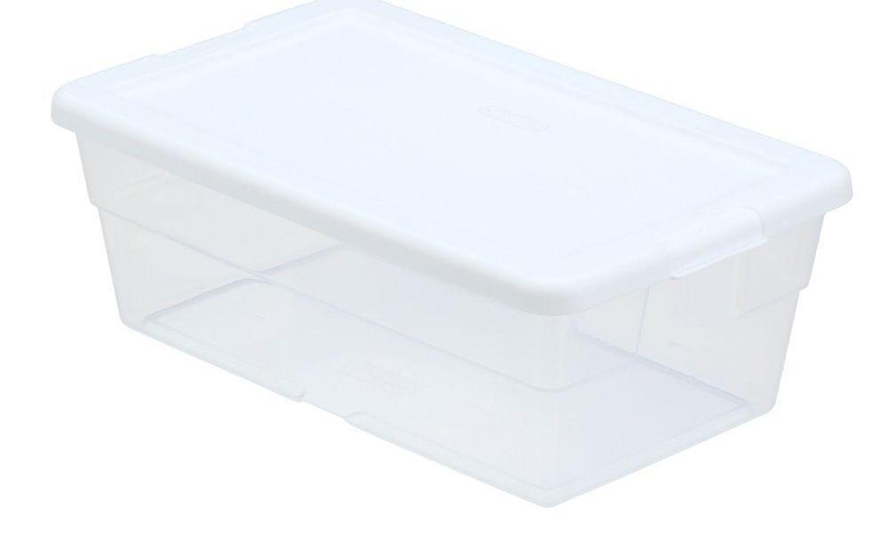 Sterilite 6-quart storage box for $0.98