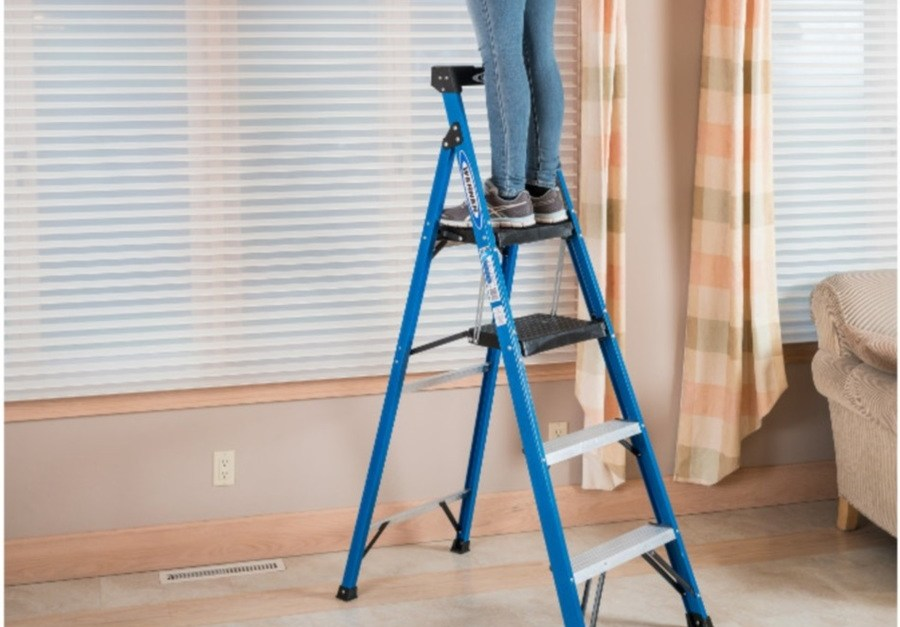 Today only: Werner fiberglass type 1 250-lb step ladder for $49