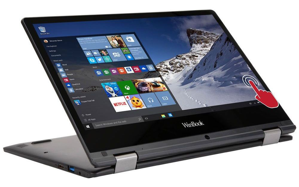 WinBook TW110 11.6″ 2-in-1 laptop computer for $140