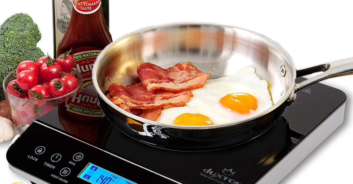 Today only: Duxtop LCD 1800-watt portable induction cooktop for $75