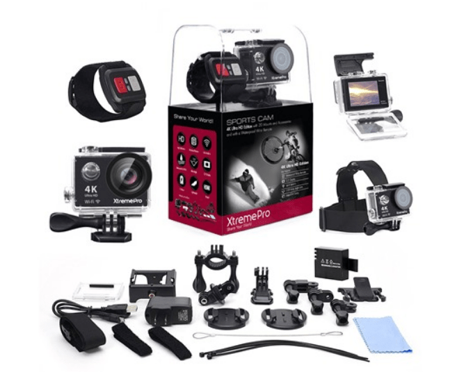 Today only: XtremePro 4K Ultra HD sports camera bundle with 20 accessories for $50