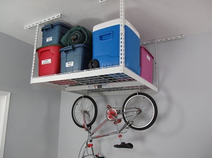 Today only: SafeRacks 4′ x 4′ overhead storage rack for $74