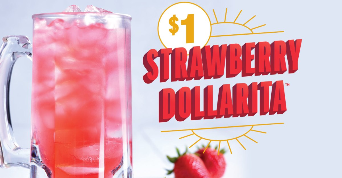 Ends soon: Enjoy $1 strawberry margaritas this month at Applebee's!