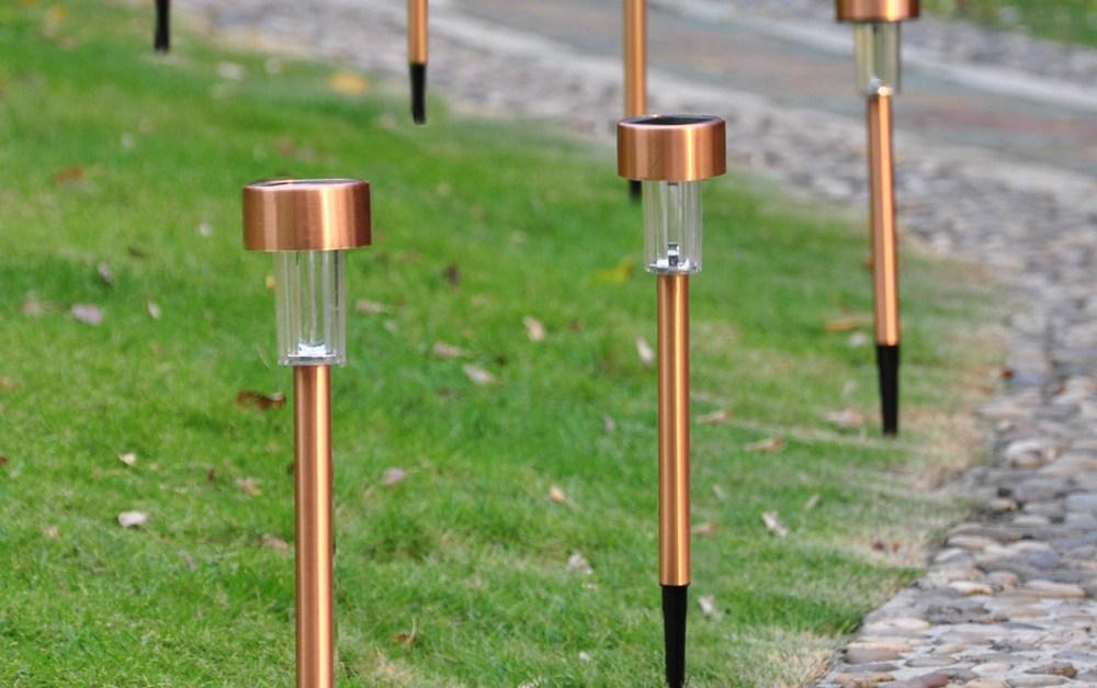 12 garden outdoor stainless steel LED solar lights for $19