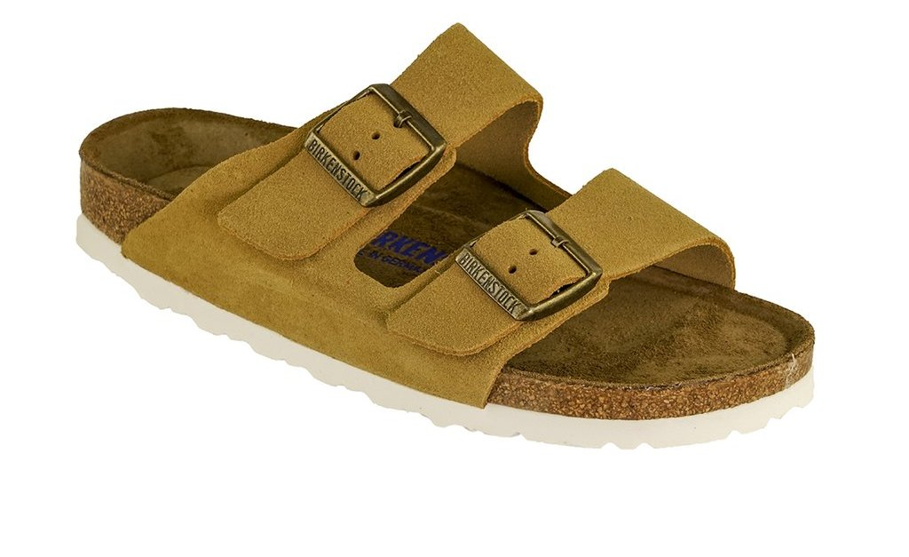 Birkenstock Arizona soft footbed suede leather sandals for $60, free shipping