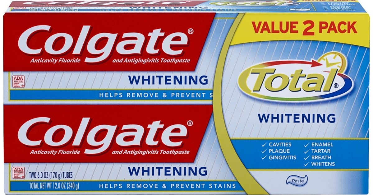 4-count Colgate Total whitening toothpaste for $10 plus a free $5 Target gift card