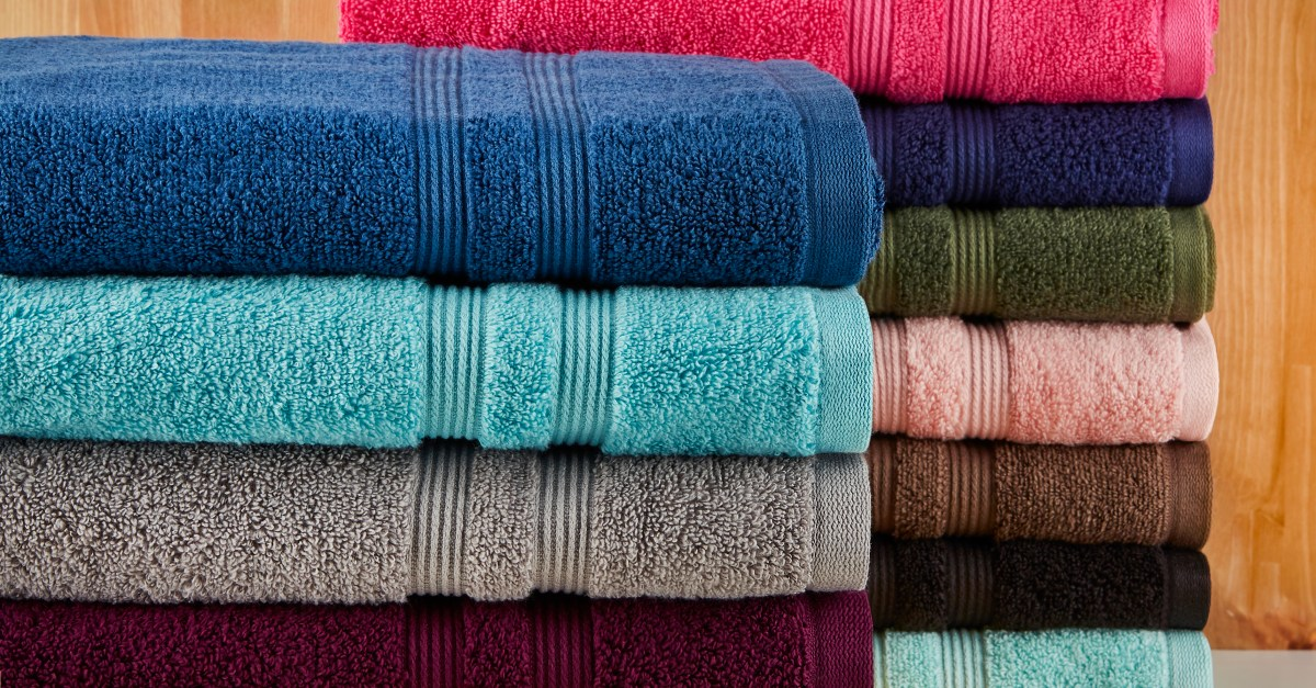 Mainstays Solid Performance towels 6-piece set from $6