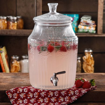 The Pioneer Woman Adeline 2.1-gallon glass drink dispenser for $14
