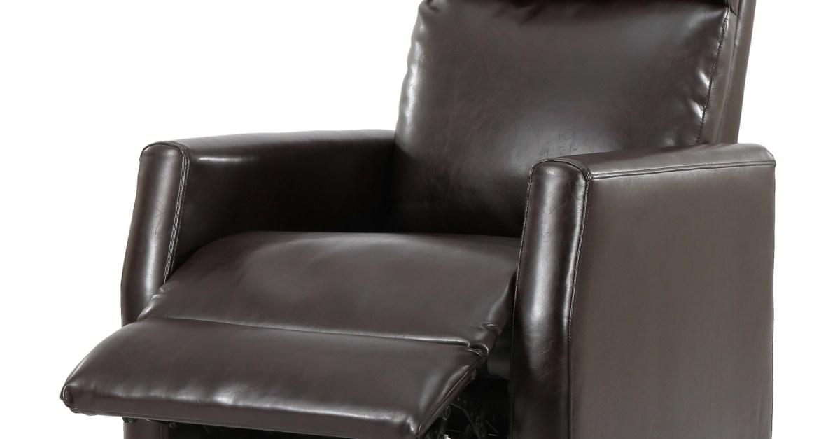 Denise Austin Home Dagenham brown leather recliner for $111, free shipping