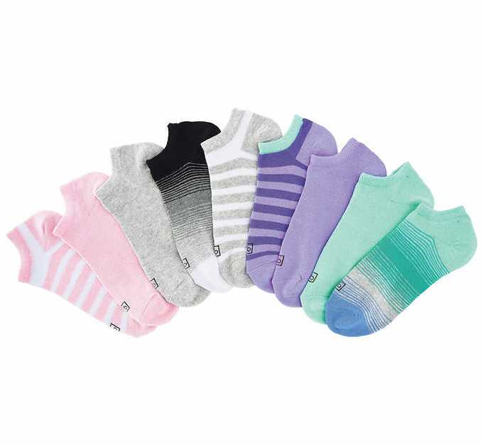 9-pair K. Bell ladies' no-show socks for $8