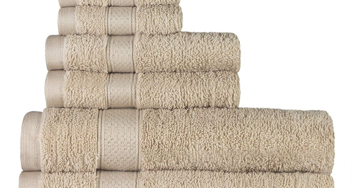Today only: 100% cotton 8-piece towel set for $19