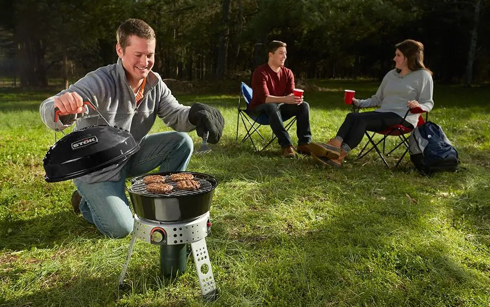 Stok Tourist single burner portable gas grill for $29