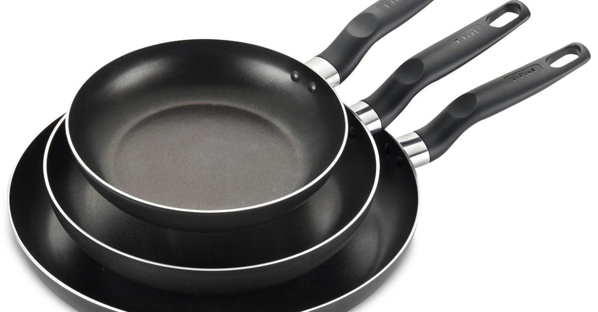 3-piece T-Fal nonstick pan set for $15