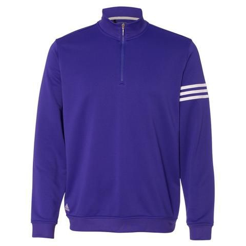 Adidas men's Climalite 3-stripe french terry 1/4 zip pullover for $20