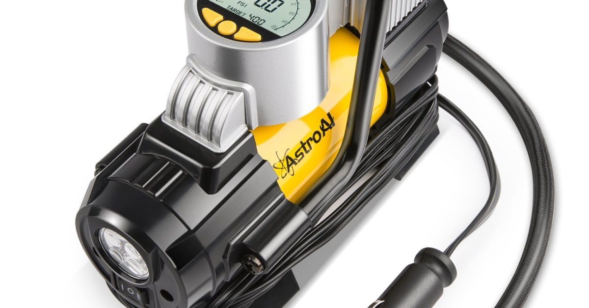 AstroAl 150 PSI portable air compressor and digital tire inflator for $30