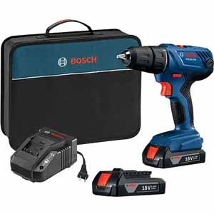 Bosch 18V drill/driver kit with 2 batteries for $77