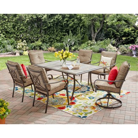 Mainstays Charleston Park 7-piece dining set for $246