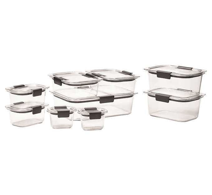 Costco members: 18-piece Rubbermaid Brilliance food storage set for $18