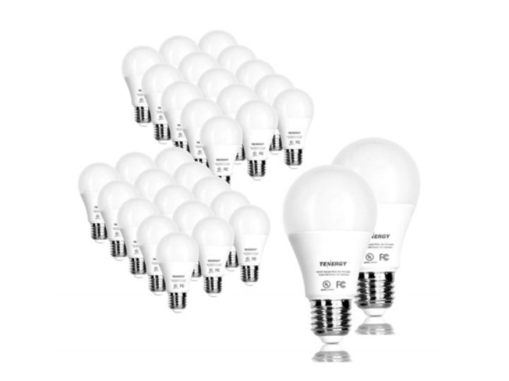 Today only: 32-pack Tenergy LED light bulbs 9W for $30
