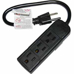 Today only: 3-outlet power strip for 99 cents, free store pickup