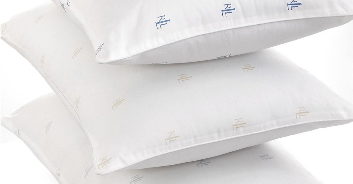 Lauren Ralph Lauren Logo down alternative pillows from $6