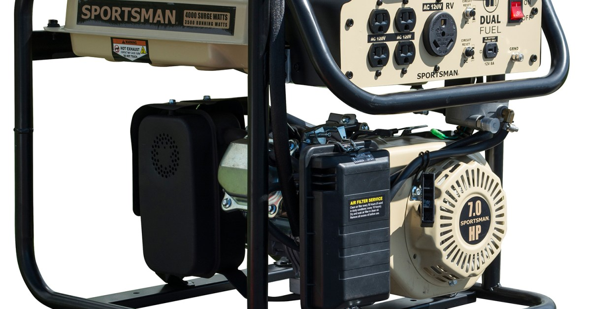 Sportsman gasoline 4000W portable generator for $279