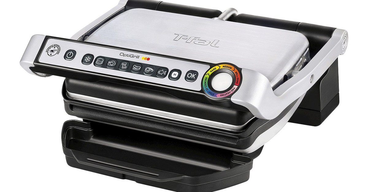 Today only: T-fal OptiGrill stainless steel indoor grill for $60