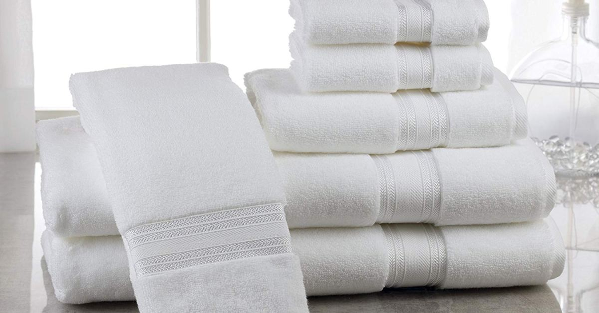 Today only: Casa Lino 6-piece quick dry bath towel set for $26