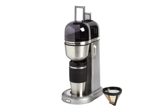 Kitchenaid Personal Coffee Maker And 18 Oz Thermal Mug Set For 30