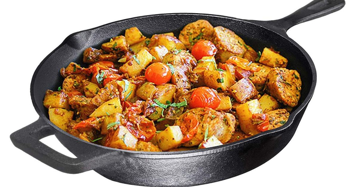 Today only: Pre-seasoned cast iron cookware from $17