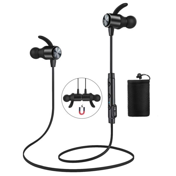 Magnetic Bluetooth 4.1 water resistant headphones for $7