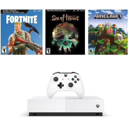 Microsoft Xbox One S 1TB all-digital edition 3-game bundle for $160