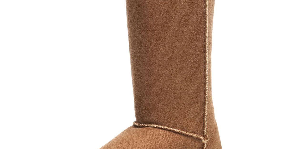 Alpine Swiss women's faux shearling sheepskin boots for $18, free shipping
