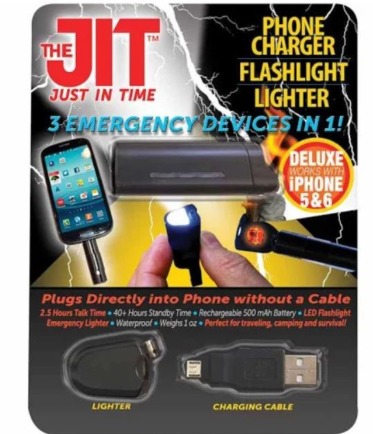 JIT Deluxe power bank & LED flashlight for $2