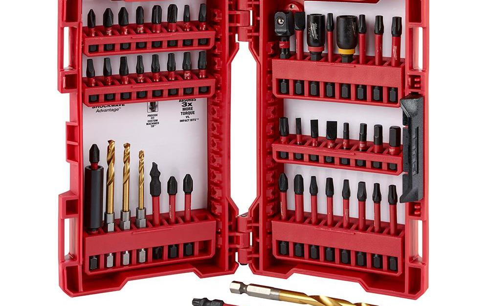50-piece Milwaukee shockwave impact duty driver steel bit set for $20