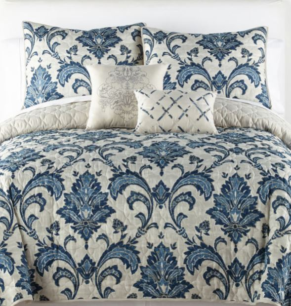 Home Expressions 5-piece king or queen quilt set for $38 with code