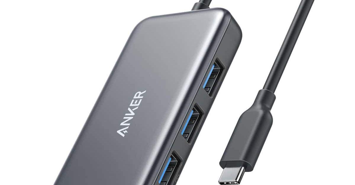 Anker USB C hub, 4-in-1 USB C adapter for $20