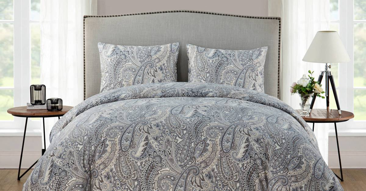 3-piece king duvet cover set with shams for $15